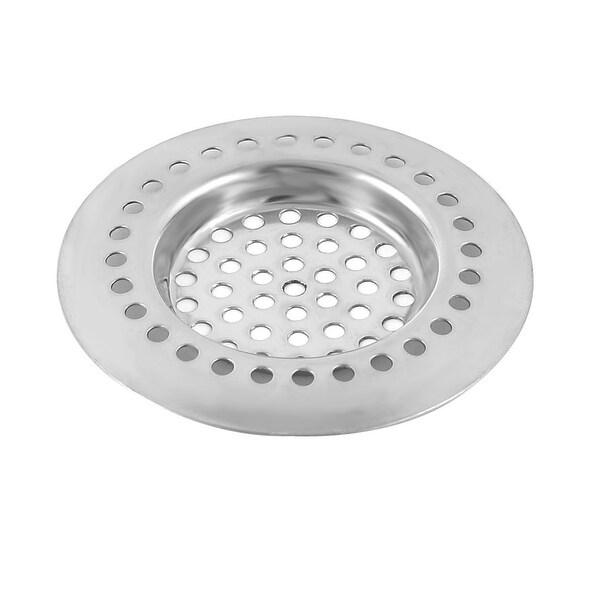 Household Kitchen Bathroom Metal Sink Drain Strainer Mesh Filter Sliver Tone