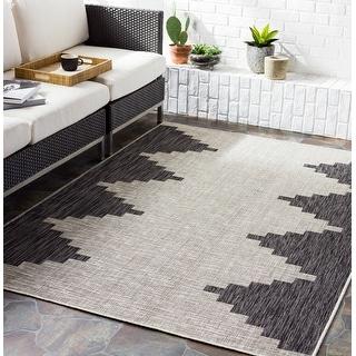Link to Jazsmin Indoor/ Outdoor Diamond Stripe Area Rug Similar Items in Rugs