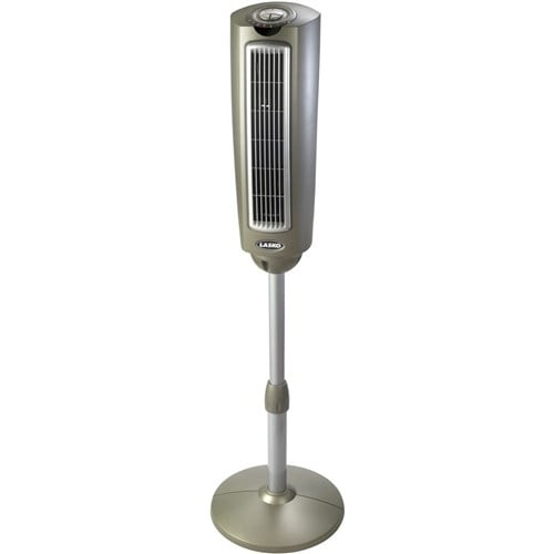 Lasko 52 Inch Space-Saving Pedestal Fan with Remote Control Space-Saving Pedestal Fan