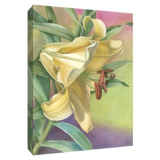 """PTM Images 9-154718  PTM Canvas Collection 10"""" x 8"""" - """"Yellow Lily"""" Giclee Lilies Art Print on Canvas"""