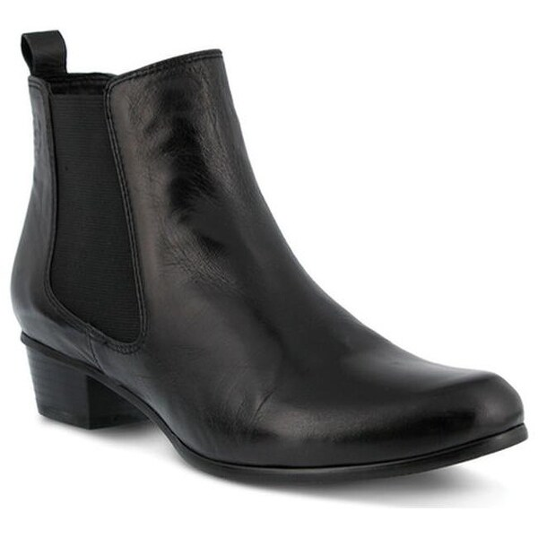 5bce843b42b Shop Spring Step Women's Lithium Chelsea Boot Black Leather - Free ...