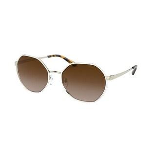 Link to Michael Kors MK1072 101413 57 Light Gold Woman Irregular Sunglasses Similar Items in Women's Sunglasses