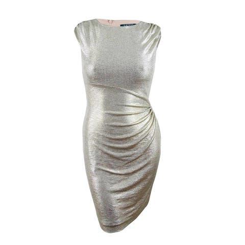 Lauren by Ralph Lauren Women's Metallic Dress (10, Gold) - Gold - 10