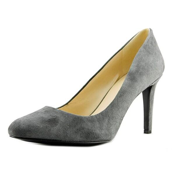 0f521d593b Shop Nine West Hand Jive Women Round Toe Suede Gray Heels - Free ...