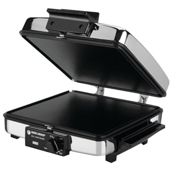 Black & Decker G48TD 3-in-1 Waffle Maker & Indoor Grill/Griddle, Black