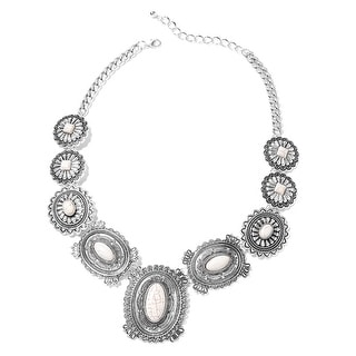 Link to White Howlite Necklace Silvertone Size 21 Inch ct 150 - Size 20'' Similar Items in Girls' Clothing