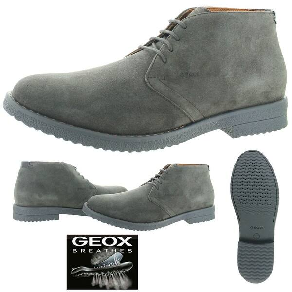 talla 40 8e4f9 abbff Shop Geox Brandled Men's Suede Chukka Desert Boots - Free ...