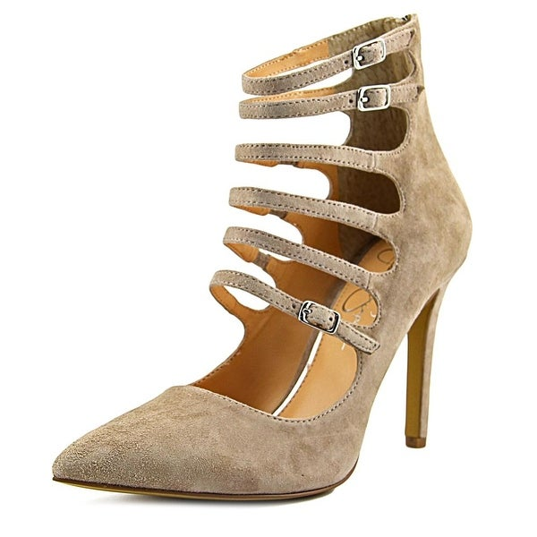 Jessica Simpson Cyndee Women Open Toe Synthetic Nude Sandals