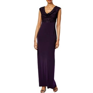 Connected Apparel Womens Semi-Formal Dress Lace Sequined