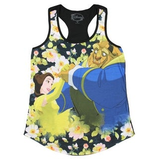 Link to Disney Beauty And The Beast Floral Sublimation Girl's Tank Top Similar Items in Tops