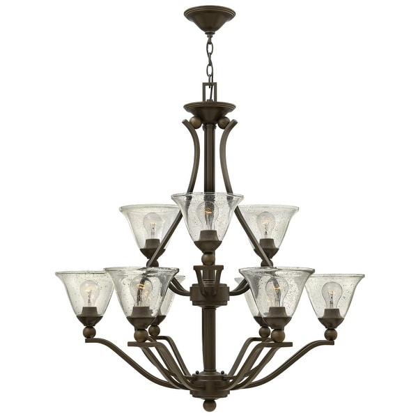 Hinkley Lighting 4657 9 Light 2 Tier Chandelier from the Bolla Collection
