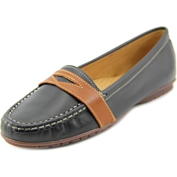 Sebago Meriden Penny Women  Round Toe Leather Black Loafer