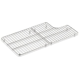 Kohler K-6639 Whitehaven Stainless Steel Right and Left Bottom Sink Racks with Hole for Drain - Stainless Steel - N/A