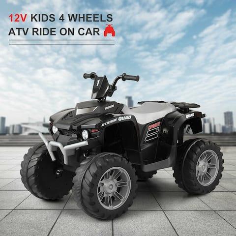 "12V Kids Ride On Car Electric ATV Quad Dune Buggy Beach Black - 7'6"" x 9'6"""