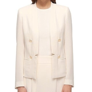 Tommy Hilfiger NEW White Ivory Women's Size 10 Textured Blazer Jacket