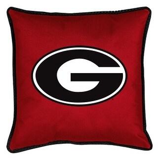 University of Georgia Decorative Jersey Trim Pillow