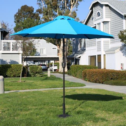 Davee Furniutre 9ft Patio Umbrella Outdoor Umbrella Patio Market Table Umbrella with Push Button Tilt and Crank for Garden