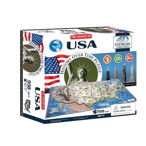 4D Cityscape Puzzle: USA