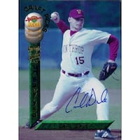Signed Dale Carl Carl Dale 1994 Signature Rookies Baseball Card autographed