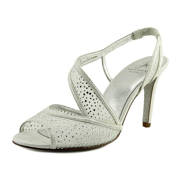 Adrianna Papell Andie Women Open Toe Synthetic Silver Sandals