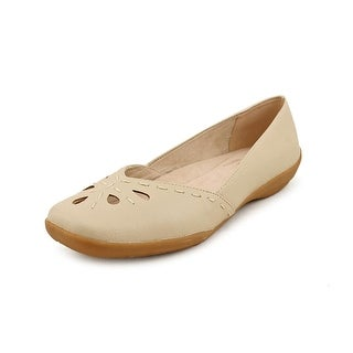 Easy Street Nadine Women N/S Square Toe Synthetic Nude Flats