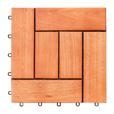 Hanalei Interlocking Wooden Decktile
