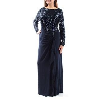 RALPH LAUREN $240 Womens New 1056 Navy Sequined Sheath Dress 14 B+B