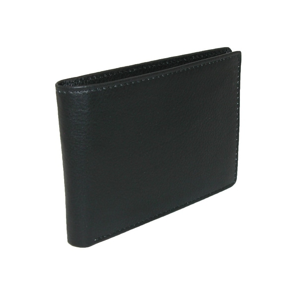 Buxton Men's Leather RFID Front Pocket Bifold Travel Wallet - One size