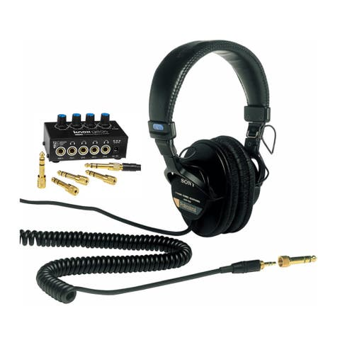 Sony MDR7506 Folding Professional Closed Ear Headphones Bundle