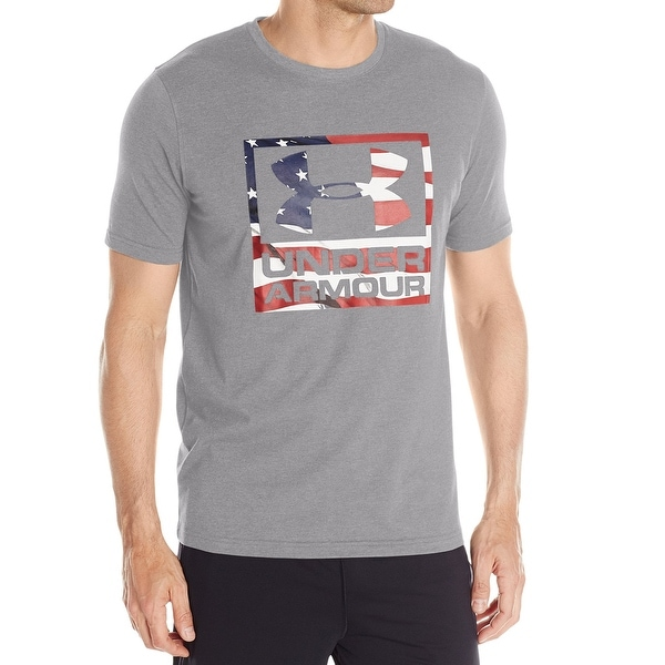 fcb94ab9f8 Under Armour NEW Gray Mens Size Large L Freedom Graphic Tee T-Shirt
