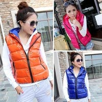 Korean Lady Women Thicken Winter Warm Vest Jacket Outwear Hooded Coat HOT  LI