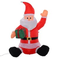 Costway 4 Ft Airblown Inflatable Christmas Xmas Santa Claus Gift Decor Lawn Yard Outdoor