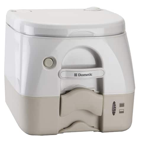 Dometic 972 portable toilet 2.6 gal tan