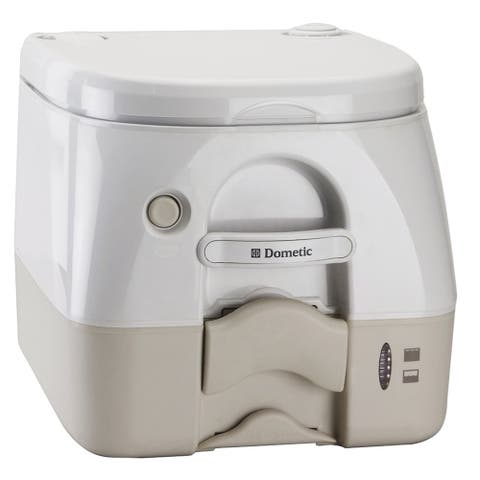 Dometic corporation dometic 974 portable toilet 2.6 gal tan w/ brackets 301097402