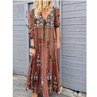Link to Flower Boho Maxi Shirt Dress Similar Items in Dresses