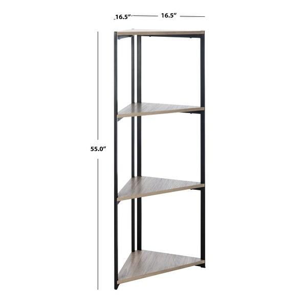 "SAFAVIEH Logan 4 Tier Corner Bookshelf - 16.5"" x 16.5"" x 55"""