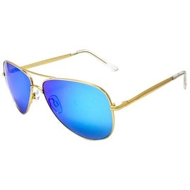 Classy New Blue Shades Gold Frame Designer Wear On Sale