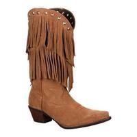 """Durango Boot Women's 12"""" Fringe Crush Desert"""