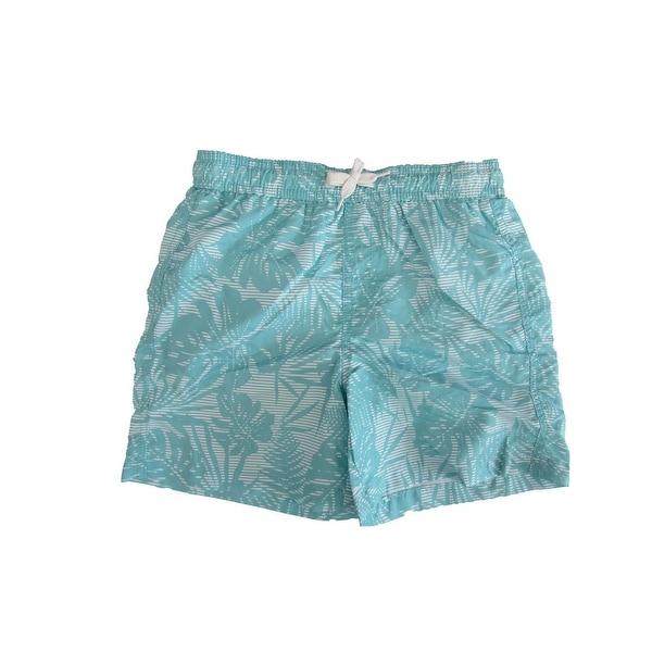 ffa0c4572786a Shop Jake Austin Boys Turquoise Hawaiian Print Adjustable Waist Swim Shorts  - Free Shipping On Orders Over $45 - Overstock - 22466118