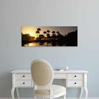 Easy Art Prints Panoramic Image 'Palm trees, Kiawah Island Golf Resort, Charleston, South Carolina' Canvas Art