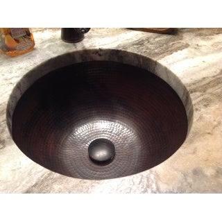 ... Unikwities 14.5 X 6.5 Inch Round Undermount Bronze Copper Sink