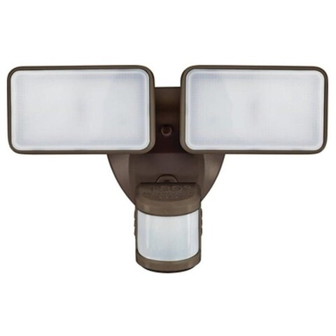 Heathco HZ-5868-BZ Motion Activated Security Light, 180 deg Sensing, Bronze