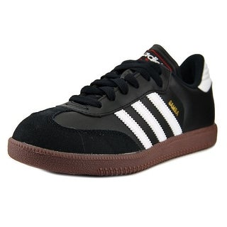 Adidas Samba Classic Youth Round Toe Leather Black Fashion Sneakers