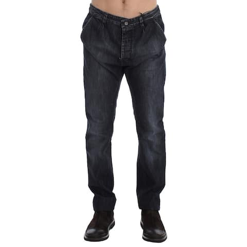 Costume National Blue Wash Regular Fit Cotton Men's Jeans