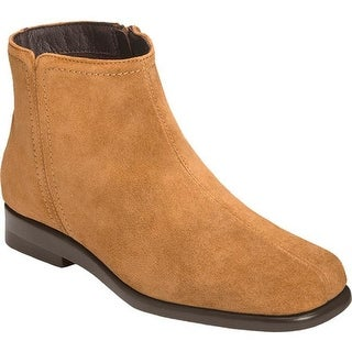 Aerosoles Women's Double Trouble 2 Ankle Boot Tan Suede
