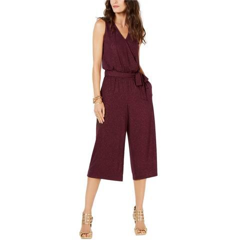 Michael Kors Womens Sparkle Jumpsuit, purple, X-Large