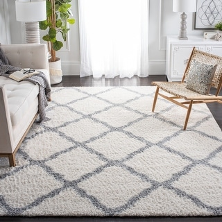 Link to Safavieh Parma Shag Fenella Trellis 1.2-inch Thick Rug Similar Items in Shag Rugs