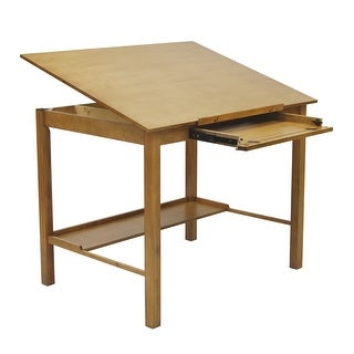 "Offex Americana II Drafting 30"" x 42"" Table - Light Oak"