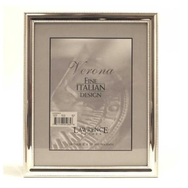 Shop 4x5 Metal Picture Frame Silver Plate With Delicate Beading