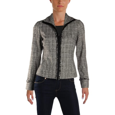 MaxMara Womens Zinco Four-Button Blazer Tweed Office Wear - 4